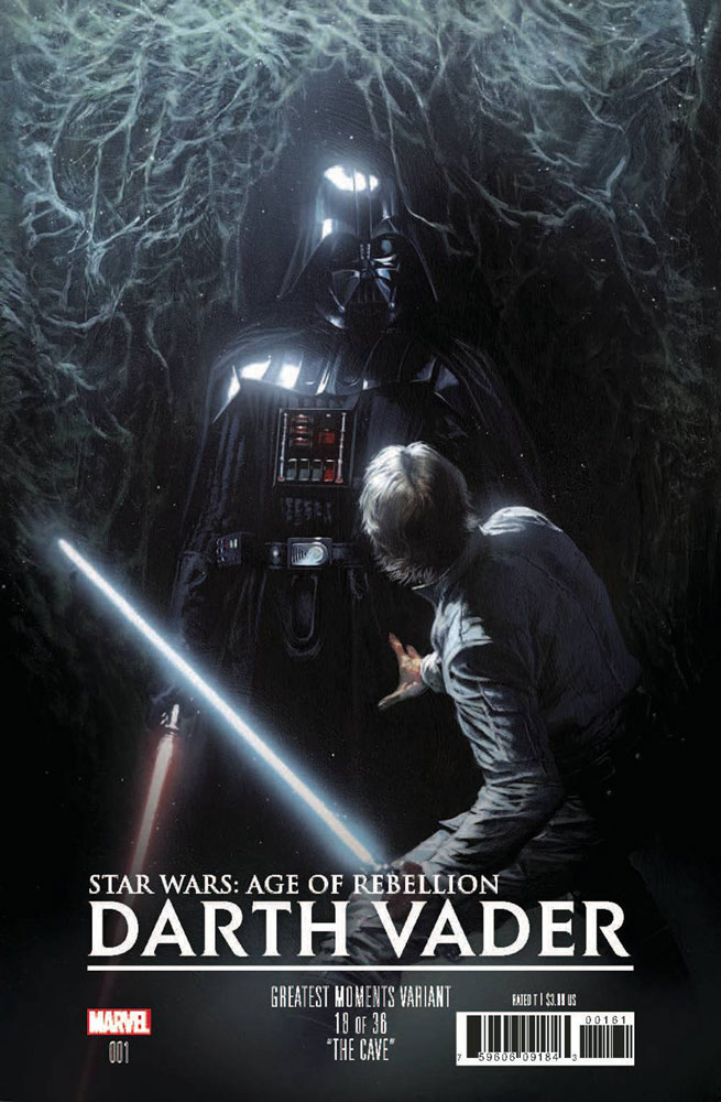 Image: Star Wars: Age of Rebellion - Darth Vader #1 (variant Greatest Moments cover - Dell'Otto) - Marvel Comics