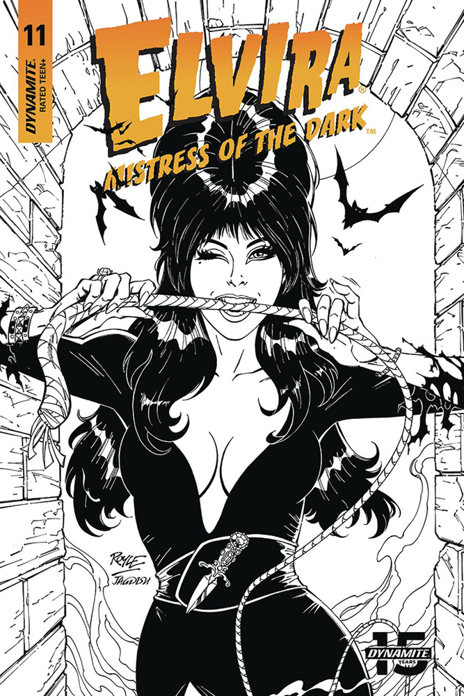 Image: Elvira: Mistress of the Dark #11 (incentive cover - Royle B&W) (20-copy)  [2019] - Dynamite