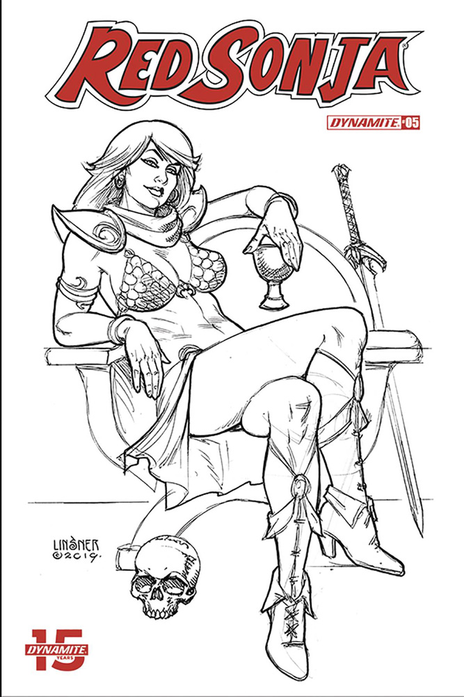 Image: Red Sonja Vol. 05 #5 (incentive cover - Linsner B&W) (30-copy)  [2019] - Dynamite