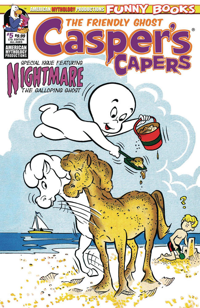 Image: Casper's Capers #5 (Limited Edition cover - Retro) - American Mythology Productions