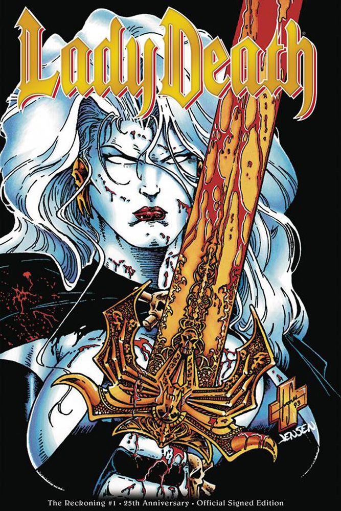 Image: Lady Death: The Reckoning - 25th Anniversary Edition #1 (signed) - Coffin Comics