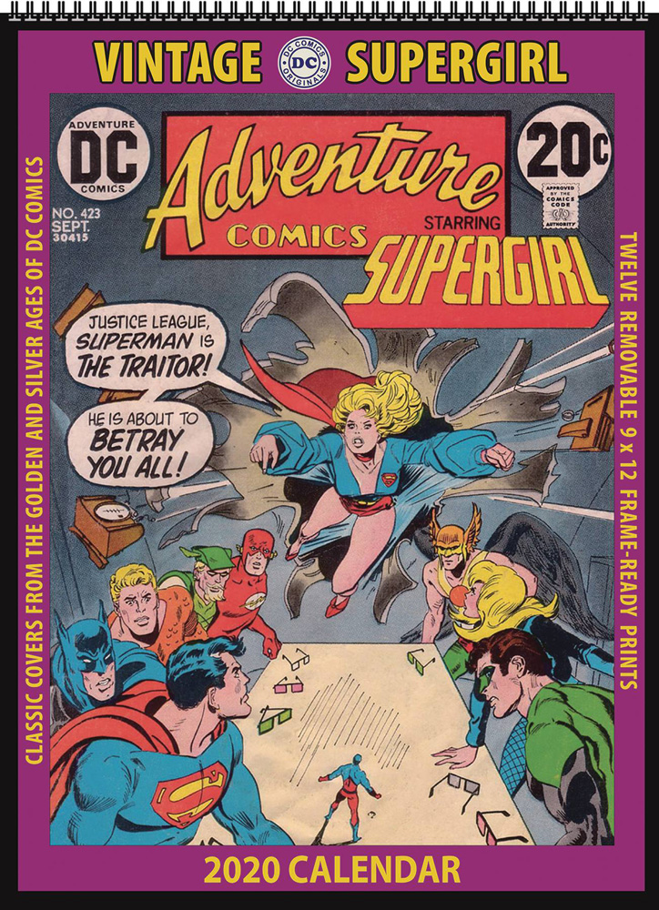 Image: Vintage DC Comics 2020 Wall Calendar: Supergirl  - Asgard Press