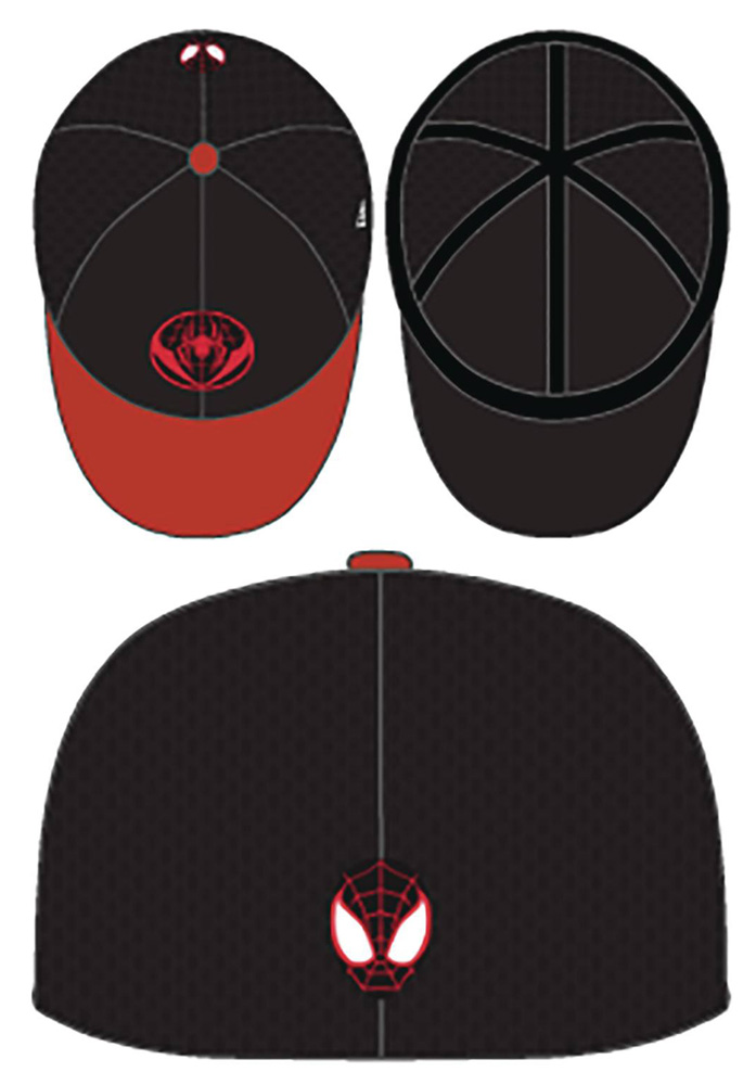Spider-Man: Miles Morales Cap: Black & Red  (Neo 3930 Flexfit) - New Era Cap Co