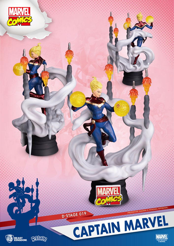 Marvel Comics D-Stage Statue: Captain Marvel  (6-inch) -
