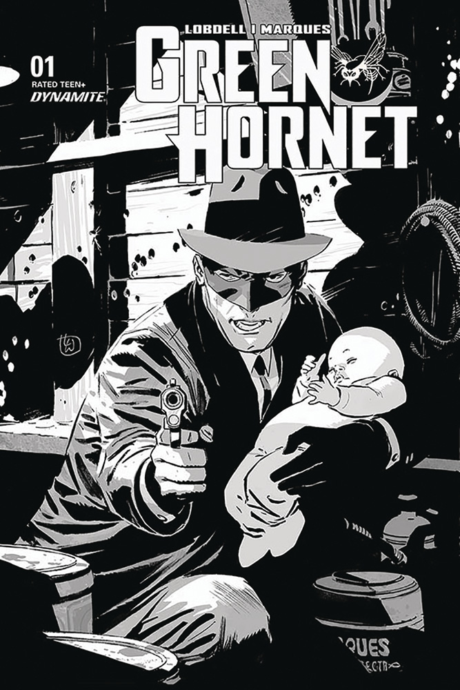 Image: Green Hornet Vol. 03 #1 (incentive 1:35 cover - Weeks B&W)  [2020] - Dynamite