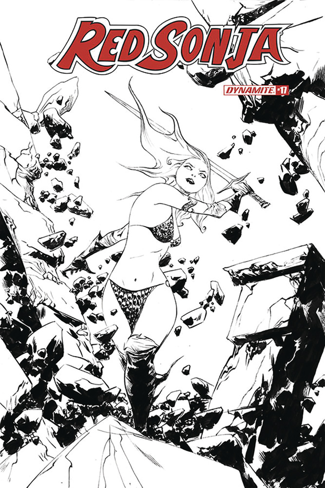 Image: Red Sonja Vol. 05 #17 (incentive 1:30 cover - Lee B&W)  [2020] - Dynamite