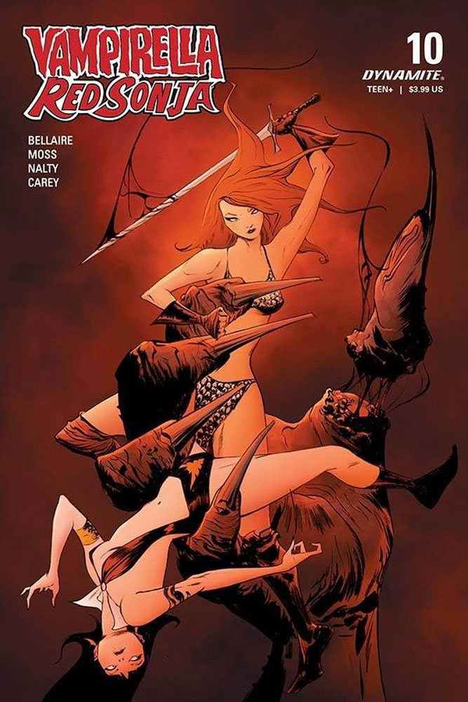 Image: Vampirella / Red Sonja #10 (cover A - Lee) - Dynamite