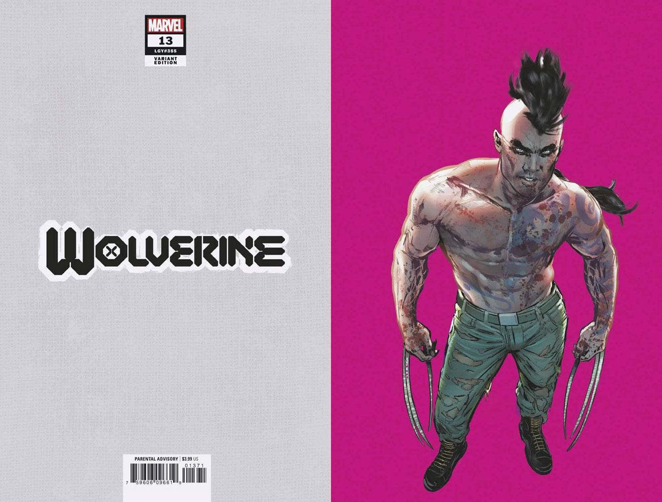 Wolverine #13 (Gala) (incentive 1:50 Pride Month cover - Jimenez virgin)  [2021] - Marvel Comics