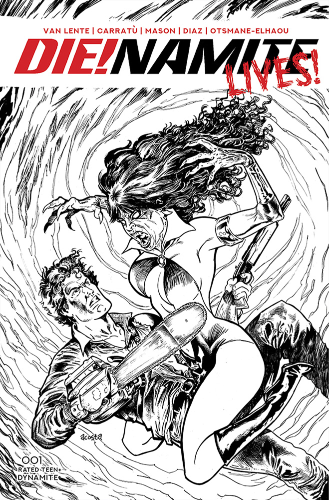 Image: DIE!NAMITE Lives! #1 (incentive 1:10 cover - Acosta pencil art) - Dynamite