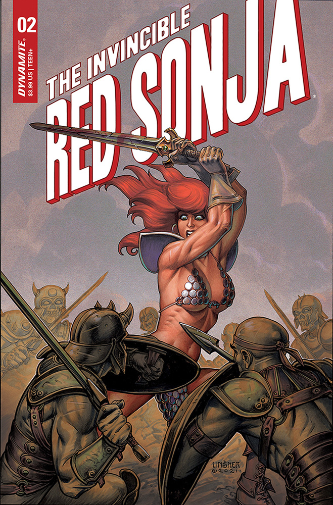 Image: Invincible Red Sonja #2 (cover B - Linsner) - Dynamite