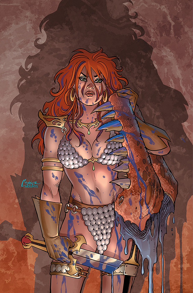 Image: Invincible Red Sonja #2 (variant cover - Conner virgin) - Dynamite