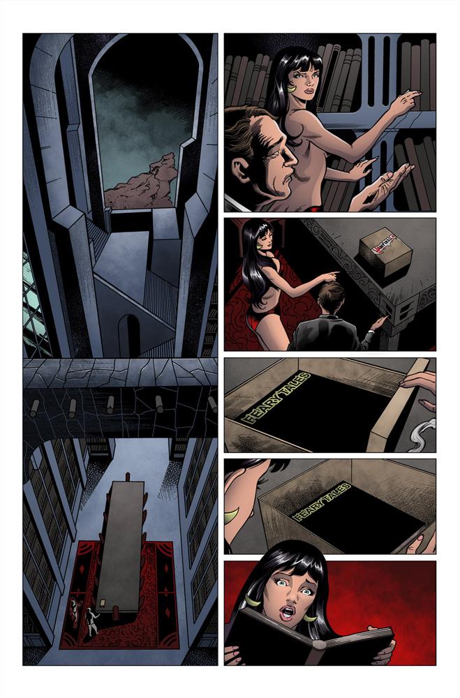 Vampirella: Feary Tales #1 (Jae Lee artboard variant incentive cover - 01081) (50-copy) - Dynamite