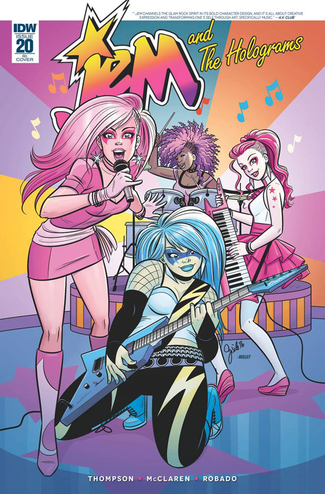 Image: Jem and the Holograms #20 (incentive cover - Gisele Legace) (10-copy)  [2016] - IDW Publishing