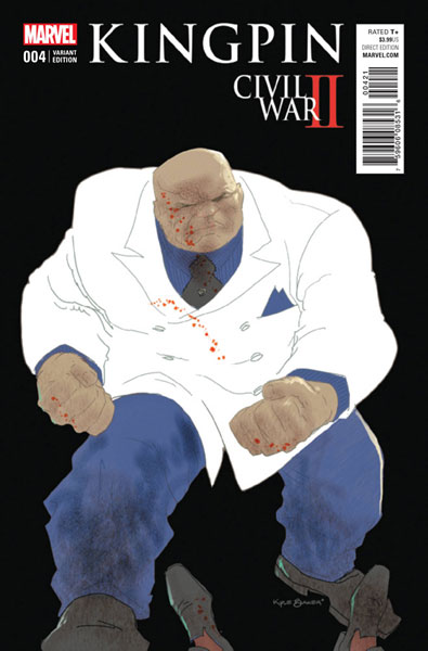 Image: Civil War II: Kingpin #4 (variant cover - Baker)  [2016] - Marvel Comics