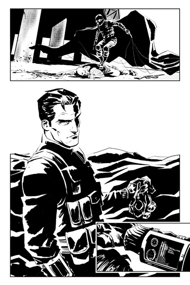 James Bond: Hammerhead #1 (Hack b&w incentive cover - 01041) (10-copy)  [2016] - Dynamite