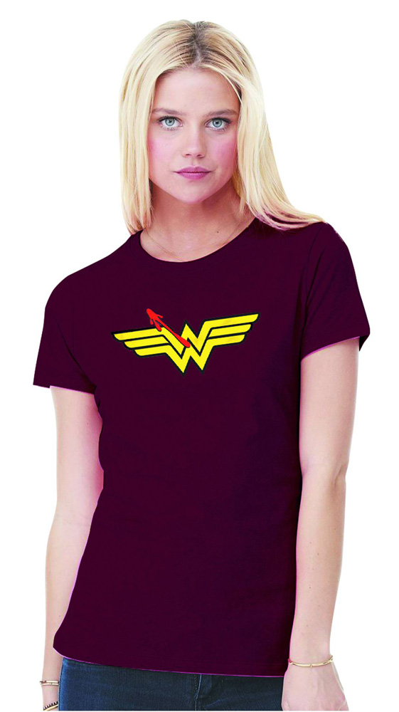 Image: Watchmen T-Shirt: Wonder Woman Symbol  (S) - Graphitti Designs