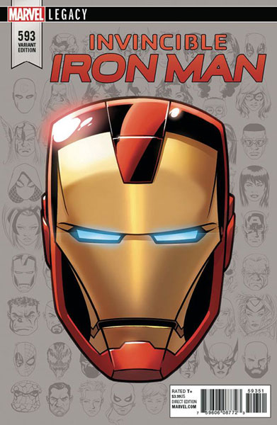 Image: Invincible Iron Man #593 (Legacy) (variant cover - Legacy Headshot)  [2017] - Marvel Comics