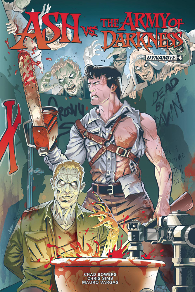Image: Ash vs. the Army of Darkness #4 (cover A - Schoonover)  [2017] - Dynamite