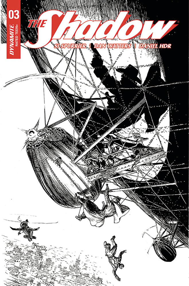 Image: Shadow Vol. 03 #3 (cover G incentive - Kaluta B&W) (40 Copy)  [2017] - Dynamite