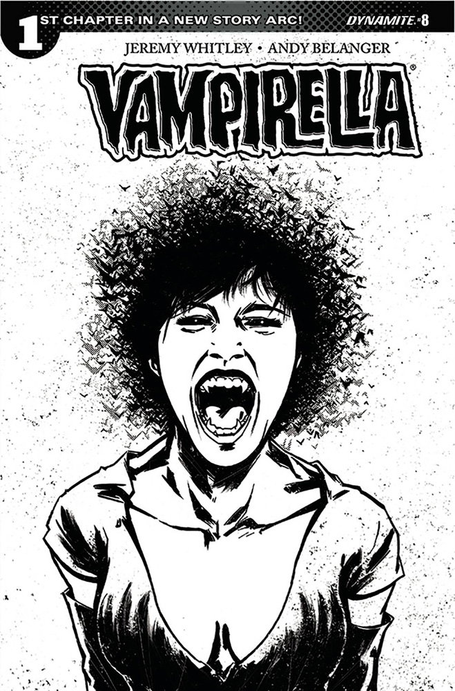 Image: Vampirella Vol. 04 #8 (cover F incentive - Tan B&W) (20 Copy)  [2017] - Dynamite
