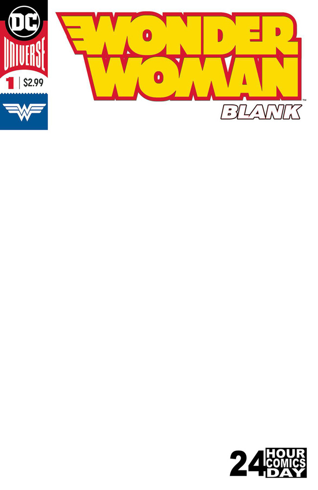 Image: Wonder Woman Blank Comic #1 - DC Comics