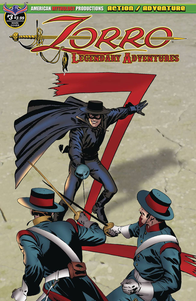 Image: Zorro: Legendary Adventures #3  [2018] - American Mythology Productions