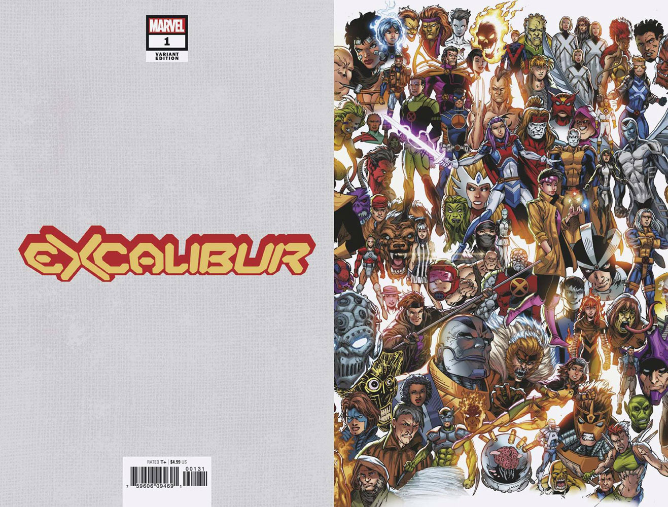 Excalibur #1 (variant Every Mutant Ever cover - Bagley)  [2019] - Marvel Comics