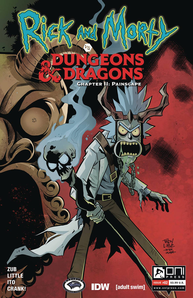 Image: Rick and Morty vs. Dungeons & Dragons II: Painscape #2 (cover A - Little)  [2019] - Oni Press Inc.