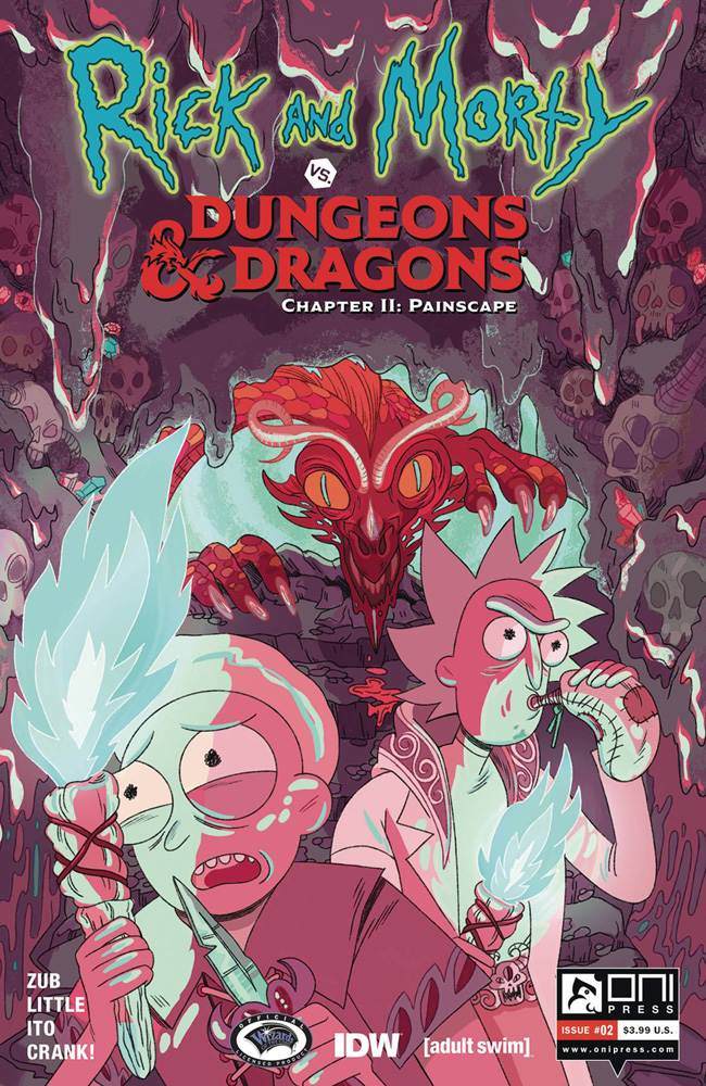 Image: Rick and Morty vs. Dungeons & Dragons II: Painscape #2 (cover B - Goux) - Oni Press Inc.