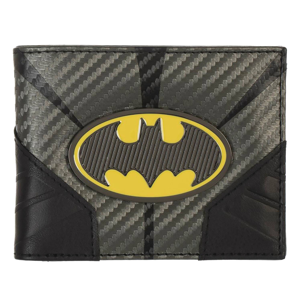 Image: Batman Bifold Wallet: Metal Badge  - Bioworld Merchandising