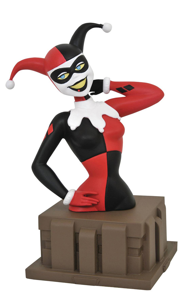Image: Batman the Animated Series Resin Bust: Harley Quinn 'Harlequinade'  - Diamond Select Toys LLC