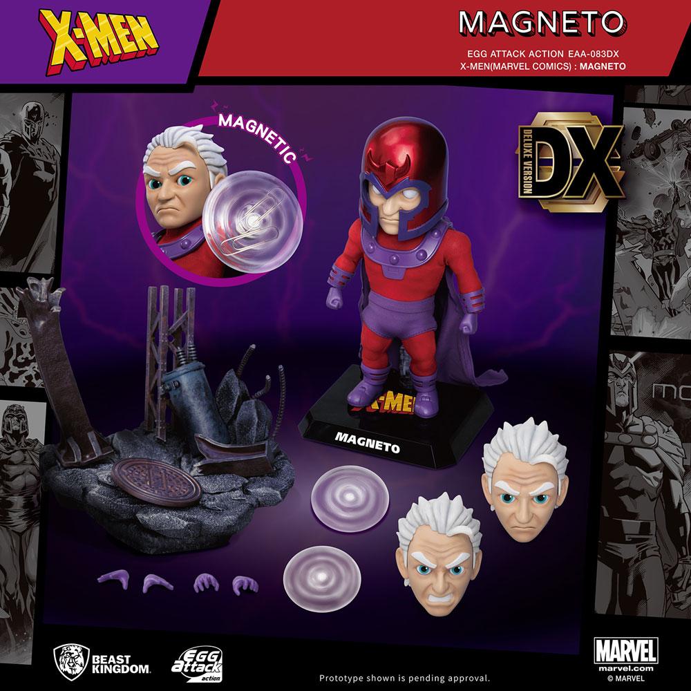 X-Men Action Figure: EAA-083DX Magneto  (Deluxe version) - Beast Kingdom Co., Ltd