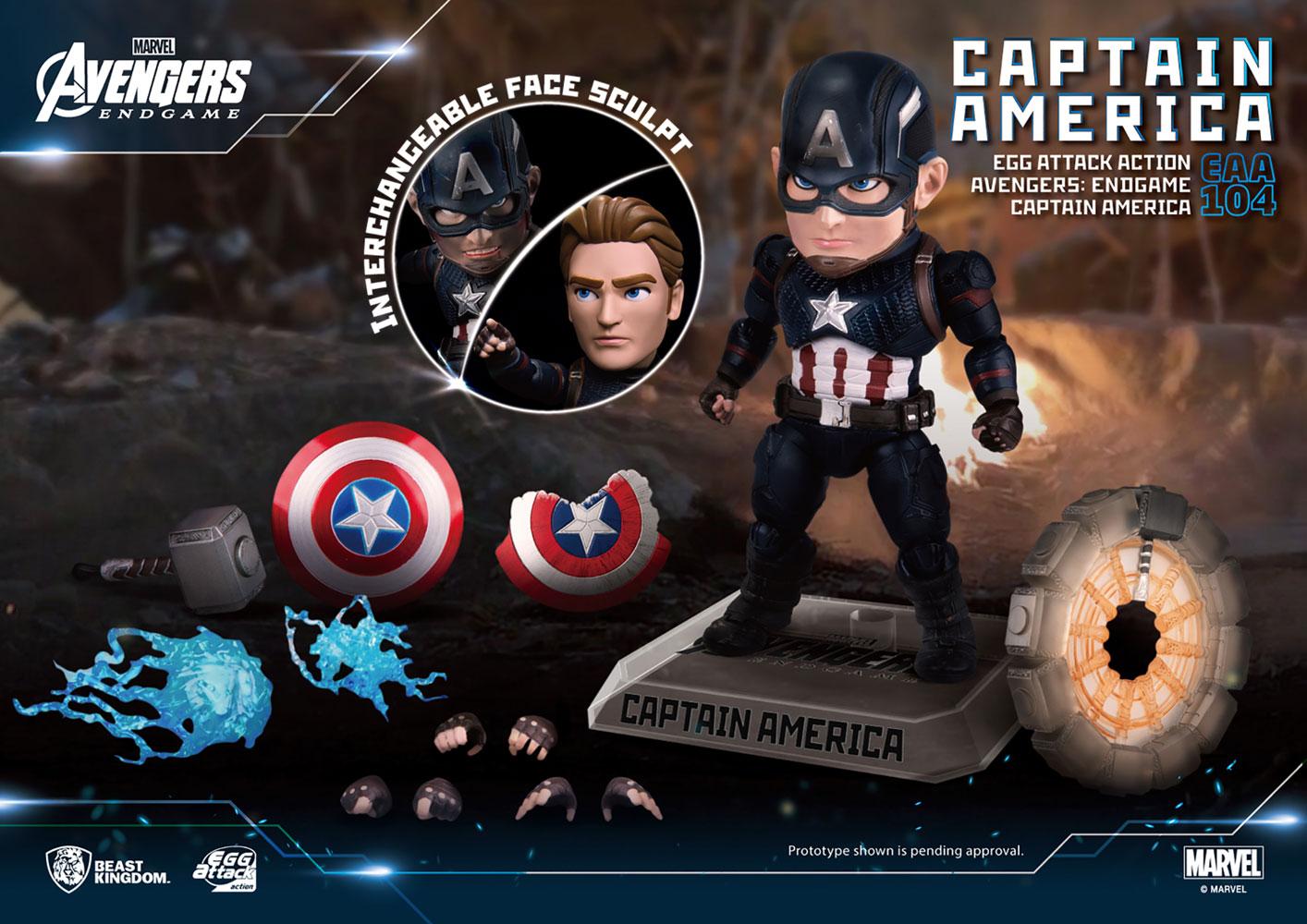 Avengers Endgame EAA-104 PX Action Figure Captain America  - Beast Kingdom Co., Ltd