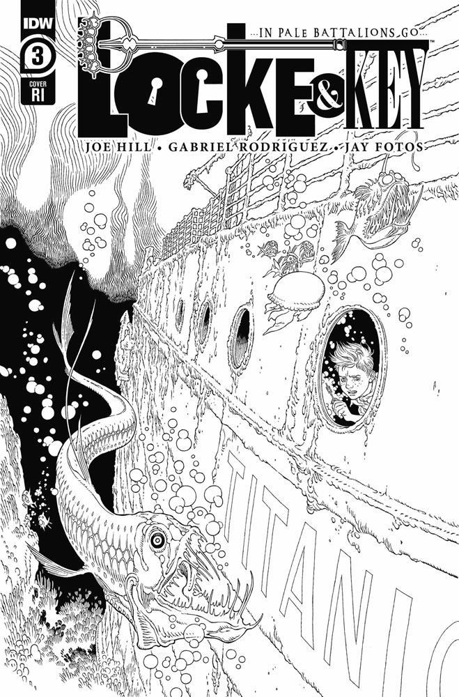 Image: Locke & Key: ... In Pale Battalions Go ... #3 (incentive 1:10 cover - Rodriguez) - IDW Publishing
