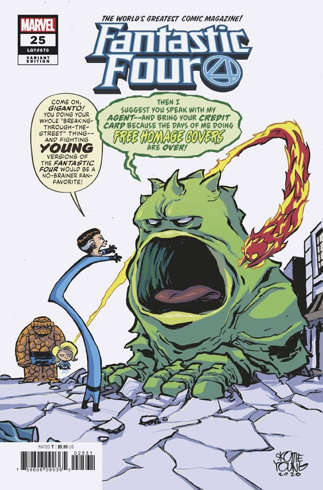 Image: Fantastic Four #25 (variant cover - Young ) - Marvel Comics