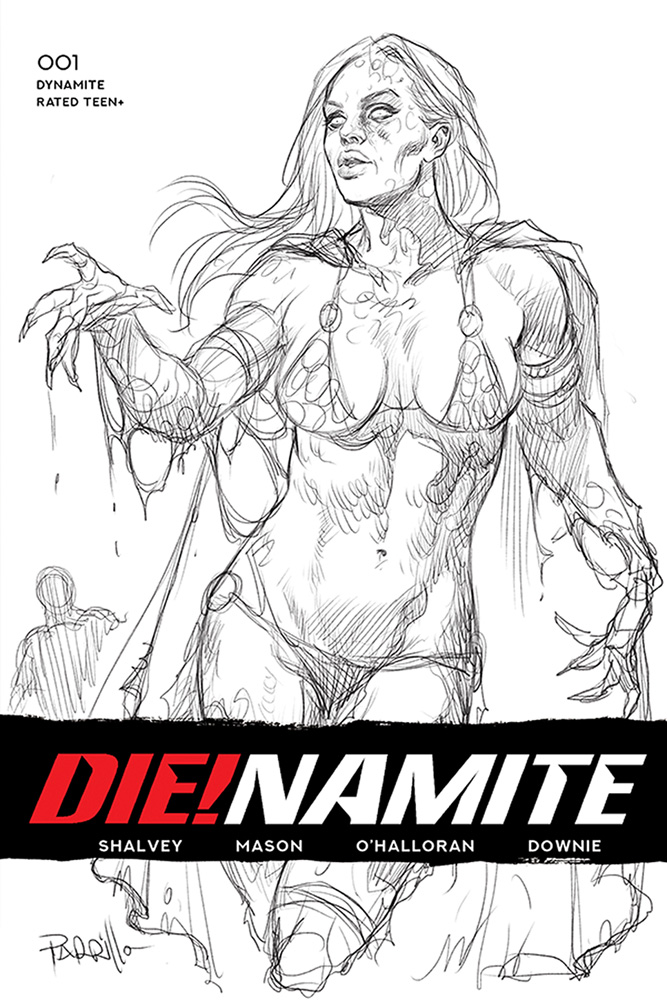 Image: Die!namite #1 (incentive 1:50 cover - Parrillo B&W)  [2020] - Dynamite