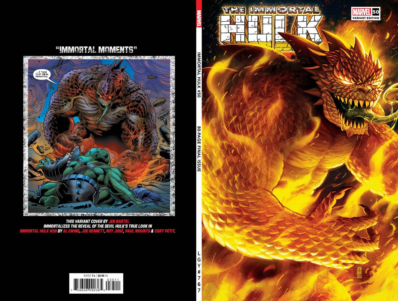 Immortal Hulk #50 (variant cover - Bartel)  [2021] - Marvel Comics