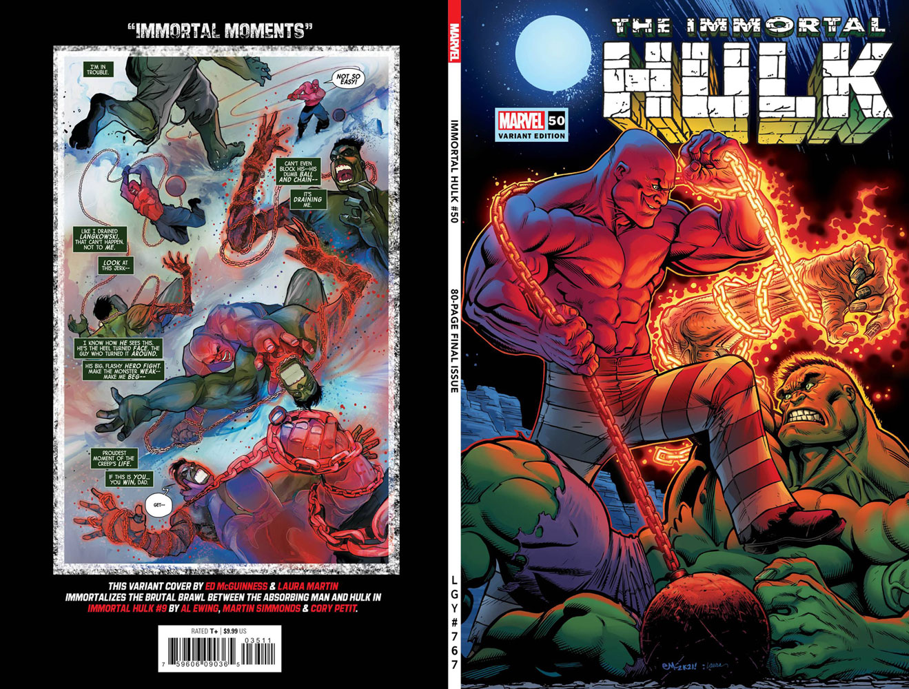 Immortal Hulk #50 (incentive 1:50 cover - McGuinness) - Marvel Comics