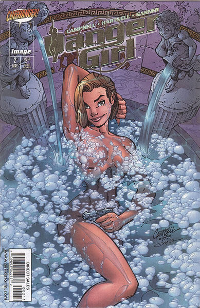 Image: Danger Girl #2 (DFE Gold Foil Edition) - Dynamic Forces