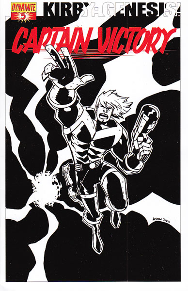 Image: Kirby: Genesis Captain Victory #5 (15-copy Oeming B&W incentive cover) (v15) - D. E./Dynamite Entertainment