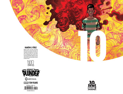 Image: Plunder #1 (Perez 10 Year variant incentive cover - 00121) (10-copy) - Boom! Studios