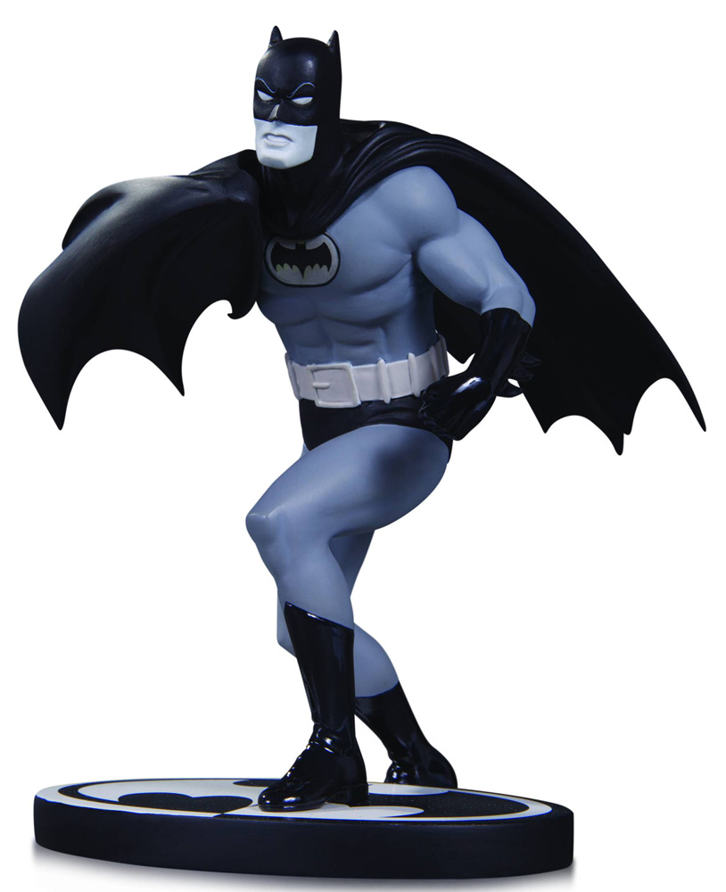Image: Batman Black & White Statue: Batman by Carmine Infantino  - DC Comics
