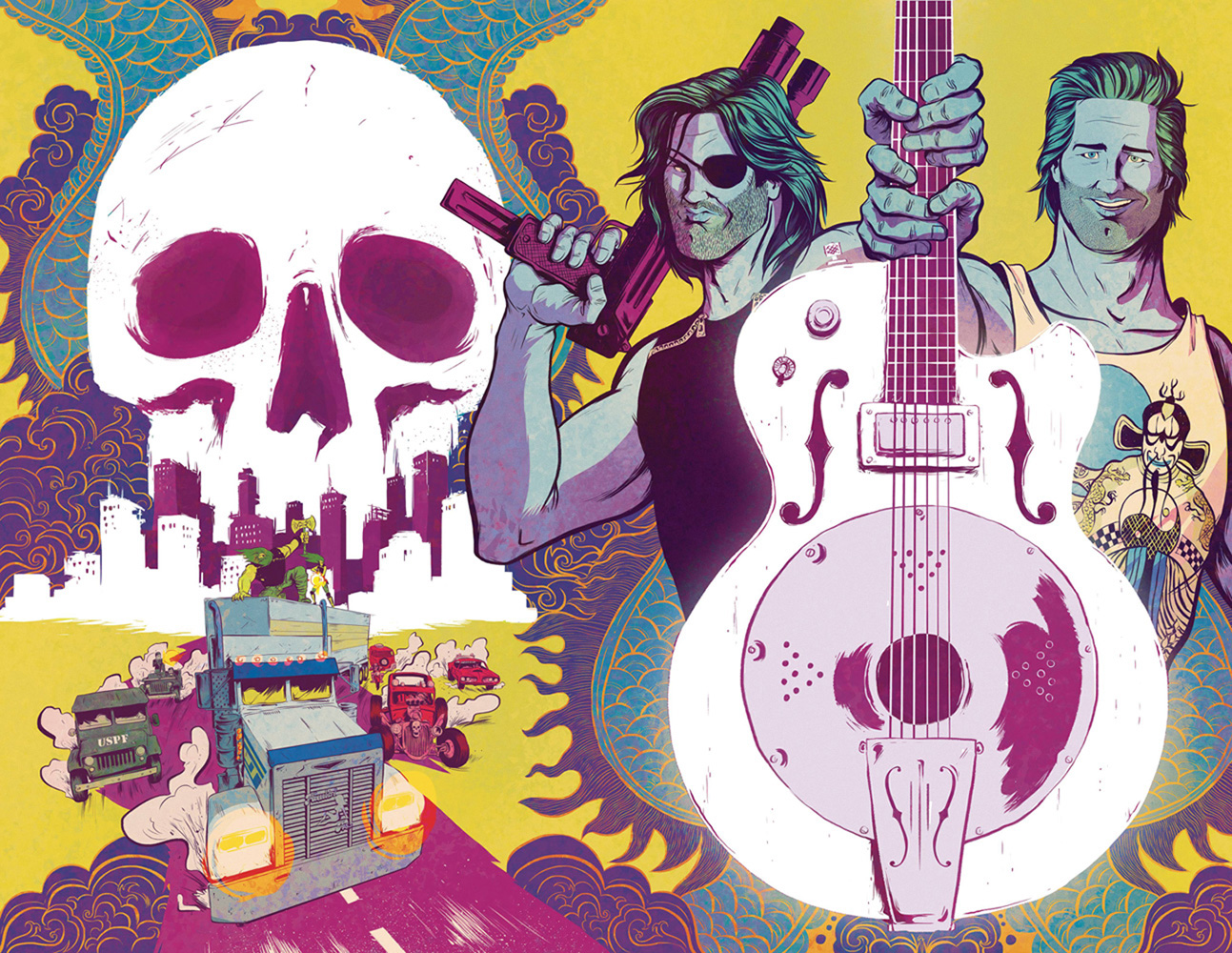 Big Trouble in Little China / Escape from New York #5 (Bayliss wraparound cover)  [2017] - Boom! Studios