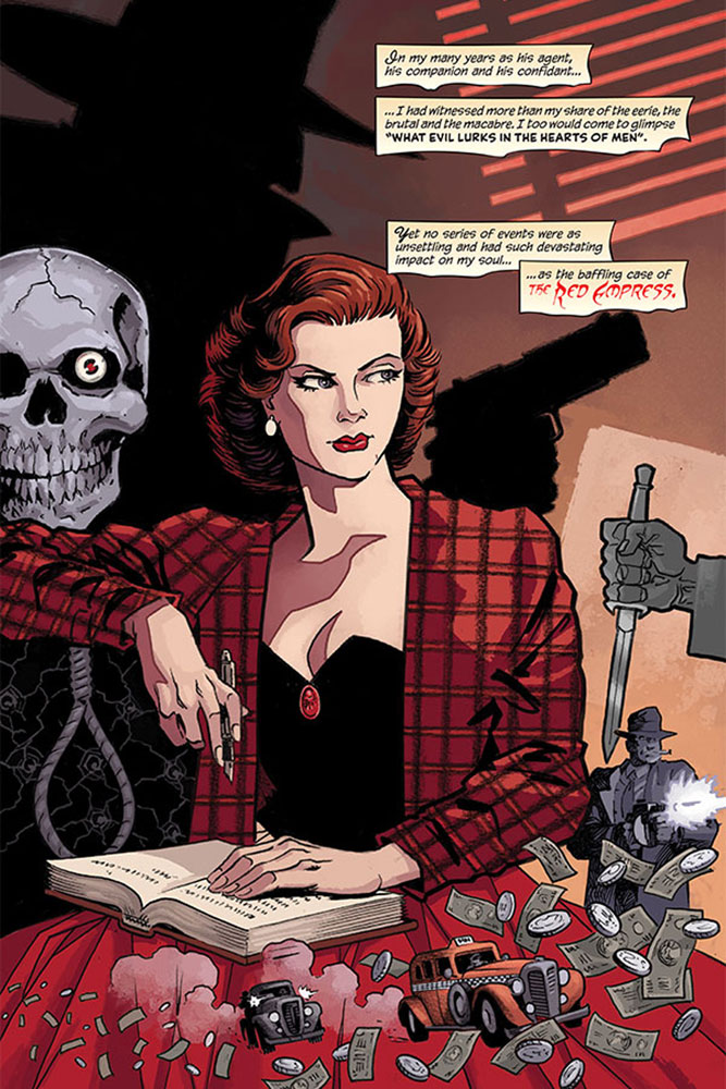 Shadow: The Death of Margo Lane Previews Exlusive HC  - Dynamite