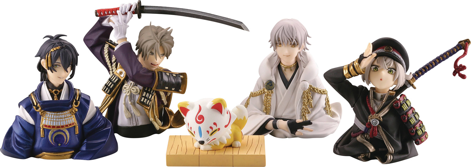 Image: Touken Ranbu Capsule Toys 12-Count Display  - Happinet Coporation