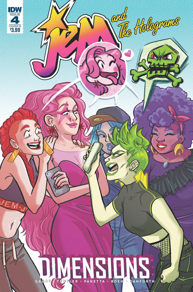 Image: Jem & the Holograms: Dimensions #4 (cover B - Fischer)  [2018] - IDW Publishing