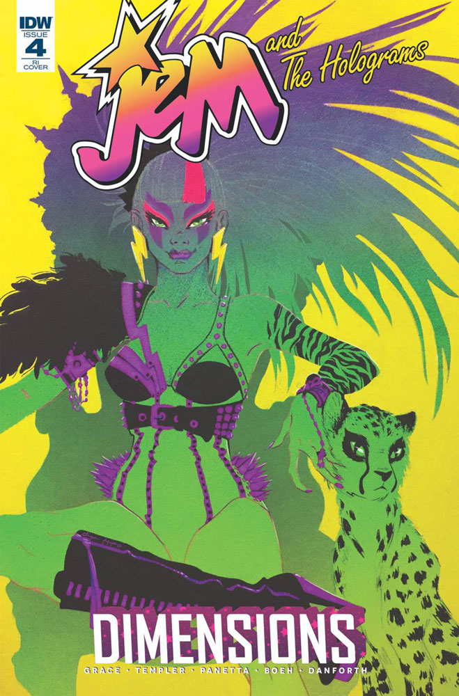 Image: Jem & the Holograms: Dimensions #4 (variant incentive cover - Eliza Frye) (10-copy)  [2018] - IDW Publishing