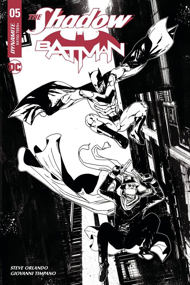 Image: The Shadow / Batman #5 (cover H incentive - Carey) (30-copy)  [2018] - Dynamite