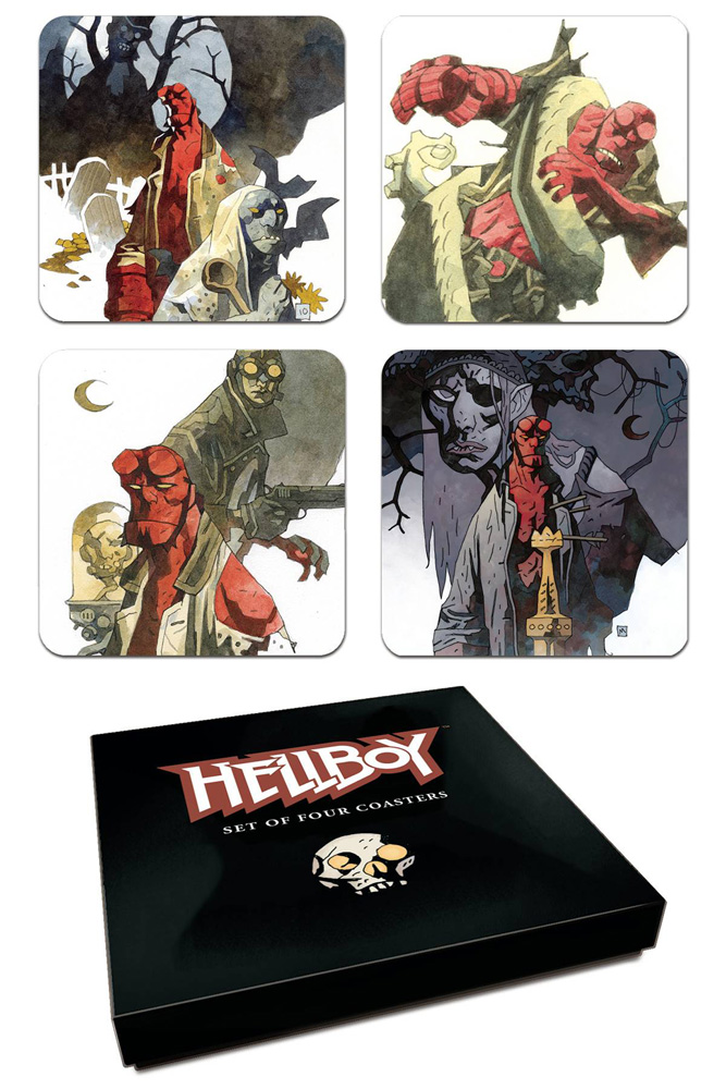 Image: Hellboy Coaster Set  (4) - Dark Horse Comics