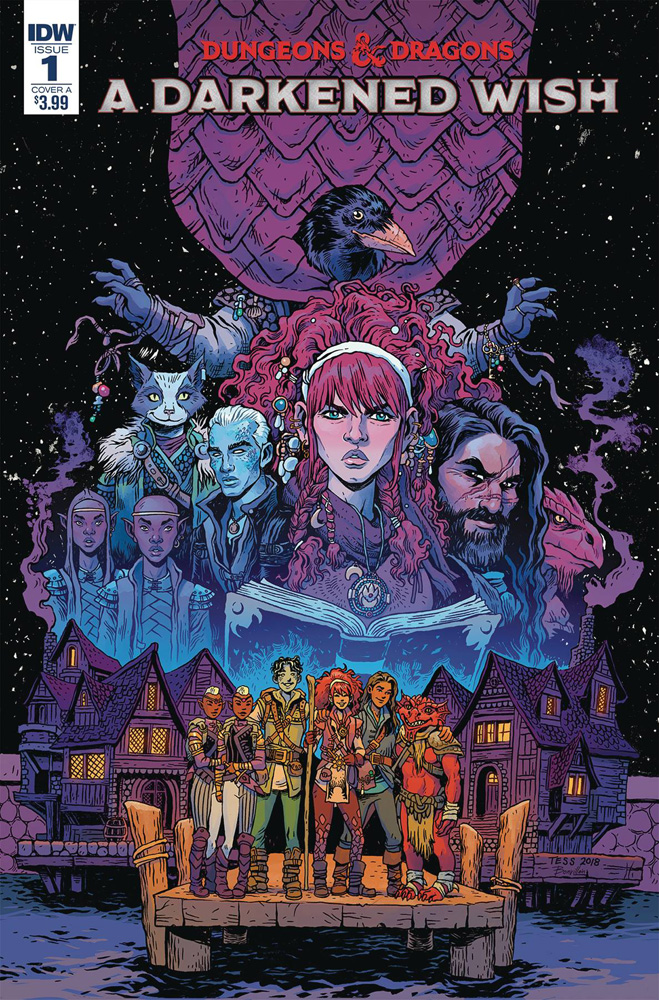 Image: Dungeons & Dragons: A Darkened Wish #1 (cover A - Fowler) - IDW Publishing